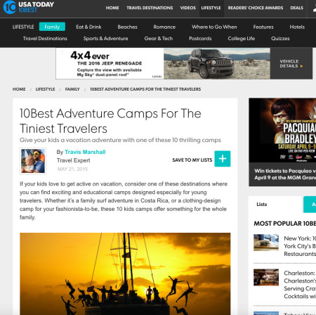 10 Best USA Today Summercamps