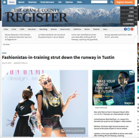 OC Register Fashion Camp Bash