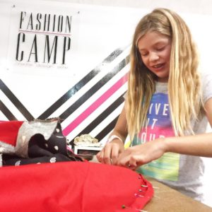 Fashion Camp Member Taylor finishing up her Kirstin Dress forhellip